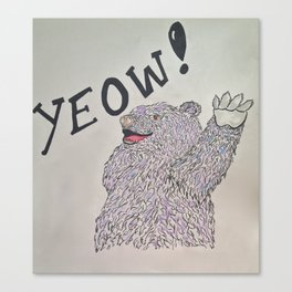 YEOW BEAR  Canvas Print