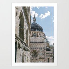Cappella Colleaoni in Bergamo, Italy   Lombary Travel Photography   Italian building Art Print