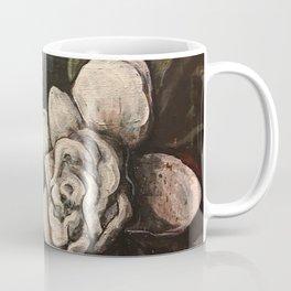 Night Bloom // Gardenia White Flower Stars Magnolia Abstract Painting Southern Garden Tree Plants Coffee Mug