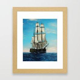 Bounty Ship Framed Art Print