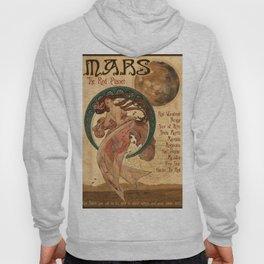 Mars - A Mucha Style Art Nouveau Interpretation Hoody