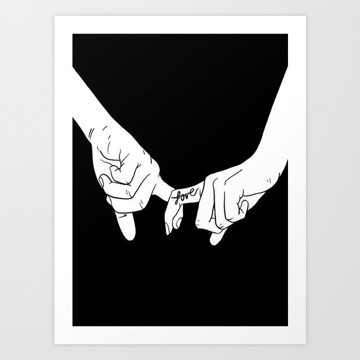 HANDS 2 Art Print