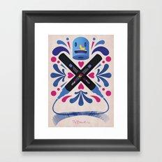Poska 4 Life Framed Art Print