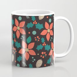 Deck the Halls - Black Background (Patterns Please) Coffee Mug