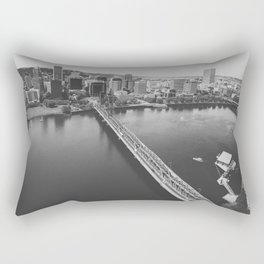 Portland From Above Rectangular Pillow