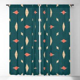 Playful Modern Geometry Background Blackout Curtain