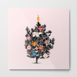 Retro Christmas tree no3 Metal Print