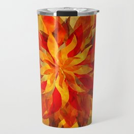 Blazing Infused Nightfall Flower Travel Mug