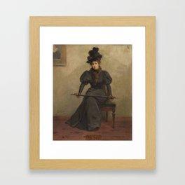 Edwin H. Kiefer(American, 1860-1931)Portrait of a Seated Lady Holding an Umbrella, 1982 Framed Art Print