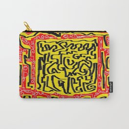 Laberinto red yellow Carry-All Pouch