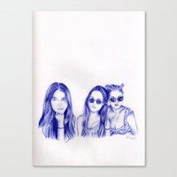 haim Canvas Prints featuring Haim Sisters by annelise johnson