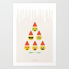 Emoji: What a ... x'mas (Six Pack) Art Print
