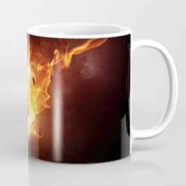 Fire Football Coffee Mug