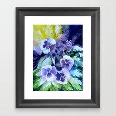 Pansies Crush  Framed Art Print