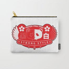 Panda Paw Paw Wings T-Shirt Design (Print Red) Carry-All Pouch