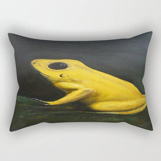 Yellow Frog Rectangular Pillow