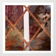THROUGH BASEMENT WINDOWS Art Print