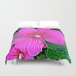 Pink Flowers of Diamond Essence Duvet Cover