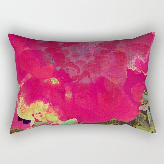 big abstract flower Rectangular Pillow