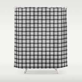 Small Light Gray Weave Shower Curtain