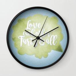 Farts & all Wall Clock