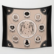 Witch Accessories Wall Tapestry