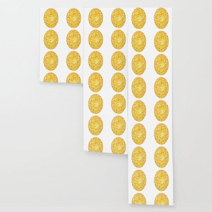 Yellow Oval Gem Wallpaper