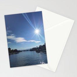 aqua naturale con sole  Stationery Cards