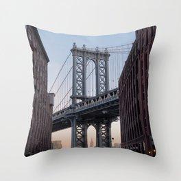 Manhattan Bridge 35mm Throw Pillow