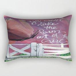 Farm Girl by Seattle Artist Mary Klump Rectangular Pillow