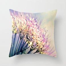 Pastel Dandelion Dew Throw Pillow