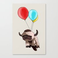 appa Canvas Prints featuring Balloon Appa by Ang.
