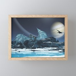 Ice Dragon Framed Mini Art Print