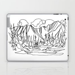 Ice Creek Lake, Valhallas :: Single Line Laptop & iPad Skin