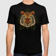 Tiger Face Mens Fitted Tee Black X-LARGE