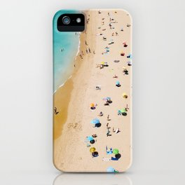 People On Algarve Beach In Portugal, Drone Photography, Aerial Photo, Ocean Wall Art Print iPhone Case