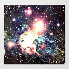 Fox Fur Nebula : Deep Pastels Galaxy Canvas Print