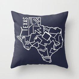 Texas Strong (Dark Blue) Throw Pillow