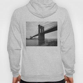Brooklyn Bridge Black and White Photograph Hoody