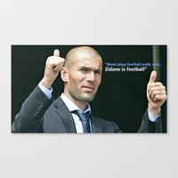 zidane Canvas Prints featuring Zidane is Football by M Robim