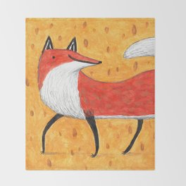 Sassy Little Fox Throw Blanket