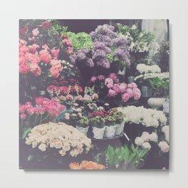 boutique de fleurs Metal Print