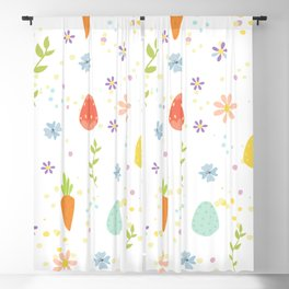 Easter Pattern Blackout Curtain