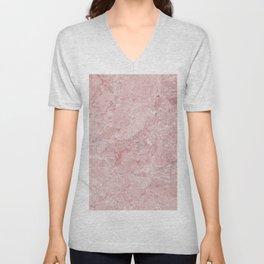 Blush Pink Marble Unisex V-Neck