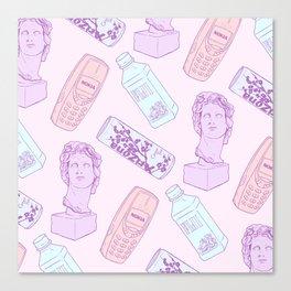 Vaporwave Pattern Canvas Print