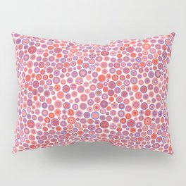 Millefiori Circles - color: Berries&Cream Pillow Sham