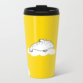 Flying Manatee by Amanda Jones Metal Travel Mug