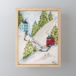 Neighbors in New England Framed Mini Art Print