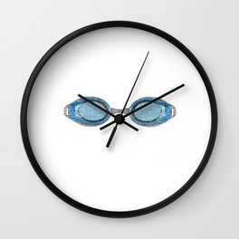 """A Great Swimming Tee For Swimmers Saying """"Oxygen Is Overrated"""" T-shirt Design Goggles Wall Clock"""