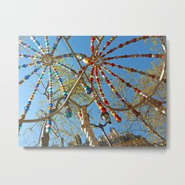 Colourful Metro Canopy Metal Print